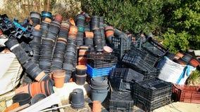 Dump of garden pots Royalty Free Stock Photos