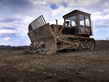 Dump landfill bulldozer Royalty Free Stock Photography