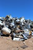 Dump. Landfill where disposed appliances that are unwanted Royalty Free Stock Image