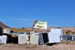 Dump. Landfill where disposed appliances that are unwanted Royalty Free Stock Photos