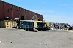 Dump. Landfill where unwanted recycled goods ire disposed of Royalty Free Stock Images