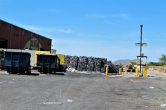 Dump. Landfill where unwanted recycled goods ire disposed of Royalty Free Stock Photos