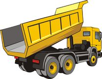 Dump lorry. Building dump truck for loose material Stock Photo