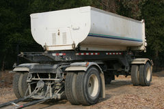 Dump trailer. Detached from truck Stock Images