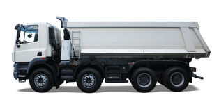 Dump truck. Isolated on white with drop shadow Stock Images