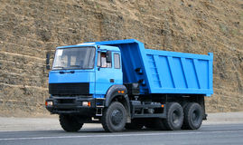 Dump truck. Modern blue dump truck in the opencast mine Stock Photography