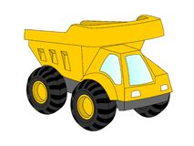 Dump Truck. Illustration of a yellow toy dump truck Royalty Free Stock Photo