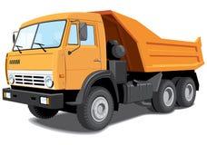 Dump truck. Vector dump truck on white background Royalty Free Stock Photo