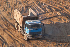 Dump-truck. Royalty Free Stock Photo
