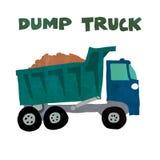 dump truck illustration stock