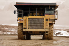 Dump truck. On construction site Royalty Free Stock Photos
