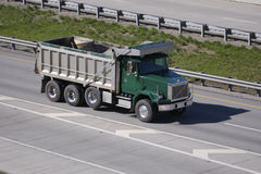 Dump Truck. On the Highway Royalty Free Stock Photography