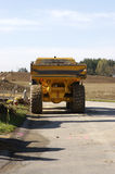 Dump Truck. Rear View of Heavy Industrial Dump Truck Stock Photography