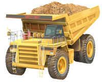 Dump truck. With bucket full of ore Stock Image
