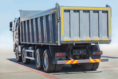 Dump truck against the sky. Big new dump truck against the sky stock image
