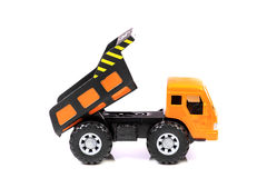 Dump truck. Beautiful shot of dump truck on white background Royalty Free Stock Photo