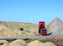 Dump truck and bulldozer Royalty Free Stock Photography