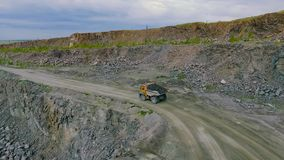 Mining truck transporting stock video footage