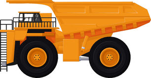 Dump truck cartoon for you design. Illustration of dump truck cartoon for you design Royalty Free Stock Photography