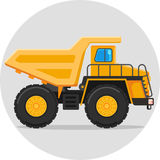 Dump truck color icon. Dump truck flat vector color icon with shadow cartoon eps 10 rgb illustration Royalty Free Stock Photography