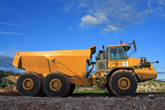 Dump Truck. On a construction site royalty free stock photos