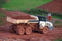 Dump Truck. On a construction site Stock Photography