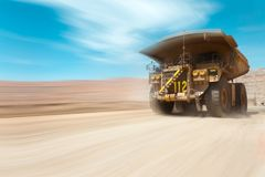 Dump truck at a copper mine. In Latin America royalty free stock photography