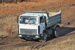 Dump truck driving Royalty Free Stock Photo