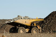 Dump Truck. In Super Pit - Kalgoorlie - Australia royalty free stock photo