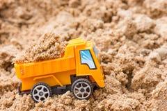 Dump truck fully loaded sand Stock Photos