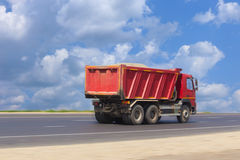 Dump truck goes on highway Royalty Free Stock Photography