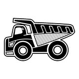 Dump Truck. Haul truck. Icon of dump truck highest payload. Isolated vector Stock Photography