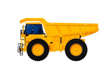 Dump truck. Heavy duty dump truck tipper drawing on white Royalty Free Stock Images
