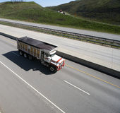 Dump Truck on the highway Royalty Free Stock Photography