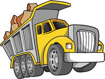 Dump Truck Illustration. Construction Dump Truck Vector Illustration Royalty Free Stock Photo