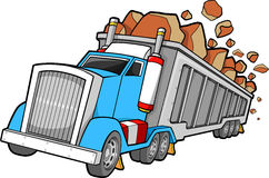 Dump Truck Illustration. Construction Dump Truck Vector Illustration Stock Image