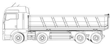 dump truck Illustration de découverte de 3d Format de vecteur d'ENV 10 d'isolement sur le blanc illustration libre de droits