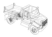 dump truck illustrazione 3D illustrazione vettoriale