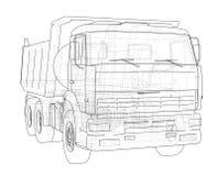 dump truck ilustración 3D Fotos de archivo libres de regalías