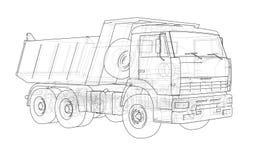 dump truck ilustración 3D Foto de archivo libre de regalías