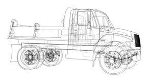 dump truck ilustración 3D Fotografía de archivo