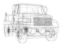 dump truck ilustración 3D Foto de archivo