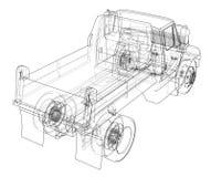 dump truck ilustración 3D Fotografía de archivo libre de regalías
