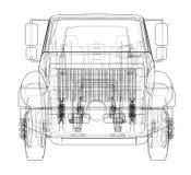 dump truck ilustración 3D Imagenes de archivo