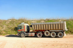 Dump Truck In Construction Royalty Free Stock Photo