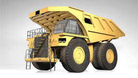 Dump truck, industrial construction vehicle, heavy machinery Royalty Free Stock Photo
