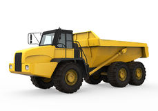 Dump Truck Isolated. On white background. 3D render Stock Photos
