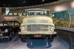 The dump truck Mercedes-Benz LK338 Kepper, 1960. STUTTGART, GERMANY- MARCH 19, 2016: The dump truck Mercedes-Benz LK338 Kepper, 1960. Mercedes-Benz Museum Stock Image