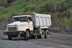 Dump truck on the mining site Royalty Free Stock Images