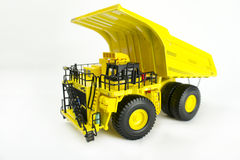 Dump truck model 1. Dump truck model  over white background Royalty Free Stock Images